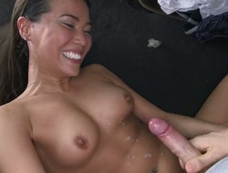 Exotic Lily with round ass makes guys sexual fantasies come true