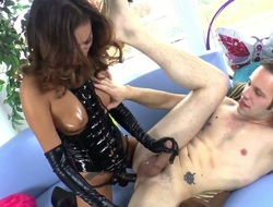 Alina Li is horny as fuck after sucking Wolf Hudsons pole