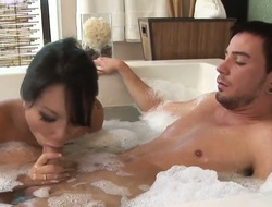 Asa Akira and hawt dude are so fucking horny in this cock engulfing act