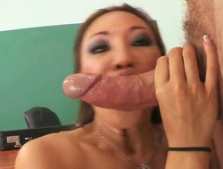 Miko Lee with large melons is close to agonorgasmos after a few minutes of fucking with her Mark Ashley