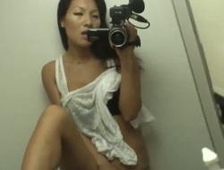 Amateur scene with a pretty Oriental slut Asa Akira who takes a camera to make an awesome clip