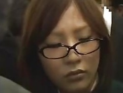 Helpless Schoolgirl on a train