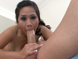 Enjoyable asian porn diva Jessica Bangkok is a natural born cocksucker who loves fat dicks like Jack Hammers one so much. See her eat his thick meaty cock like theres no tomorrow.