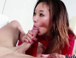 Dirty Asian hooker pleasures a rigid shlong