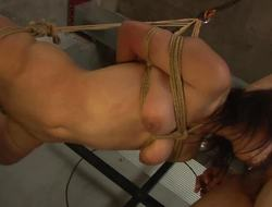 Dominated asian swallows this hard cock
