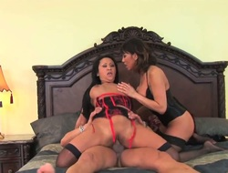 Kitty Langdon with gigantic tits gets hardcored in interracial scene