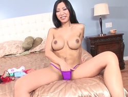 Tia Ling gets her soaking wet fuck aperture hammered
