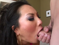 Sexy and really nice blowjob from a horny Asian slut whose name is Asa Akira