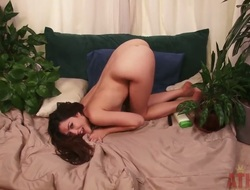 The remarkable Oriental prostitute Cassie Laine uses the lotion to make her skin gently. She's completely naked and demonstrates her marvelous pussy without shame. Enjoy this solo scene