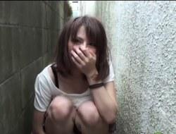 Japanese slut toying vag