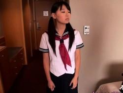 Oriental petite schoolgirl fucked in tight pussy