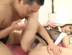 Oriental slut implores for hard knob to dangle her lips on