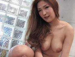 Busty Asian sweetheart teasing with her tight snatch