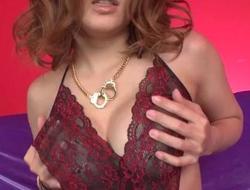 Nozomi provides titjob during toy porn