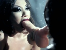 Asa Akira receives impaled on mans snake in interracial sex action