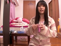 Virginal looking stupid black haired japanese teen Tsubomi with natural boobies and cute ass in provocative nightgown acquires filmed in point of view all over the place in kinky sofcore.