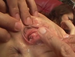 Hardcore oral stimulation play along Ai?s tight pussy
