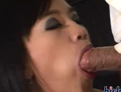 Foxy Asian bitch receives a messy facial