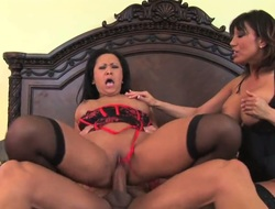 Ava Devine with giant jugs having interracial sex pleasure with horny fuck buddy