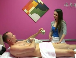 Dude's dick gets satisfied to max during massage