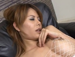 Biggest dong shoved in face hole of a Oriental hottie on webcam, cum discharged
