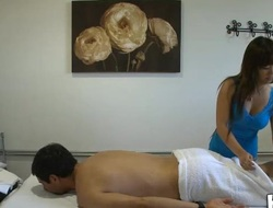 Massage can really include sex and our dude discovers that