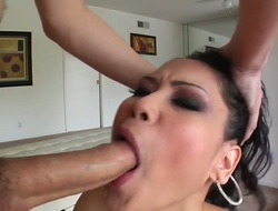 Hardcore action with a slutty Asian doxy who gets a sweet sperm on her lips