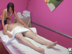 Favourable fellows Dillon Hawk receives a very nice massage from a sexually excited doxy named Kim