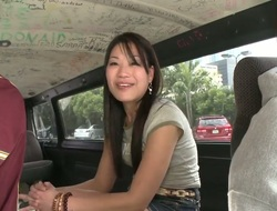 Cute bitch Jen Li enticed into a bangbus and offered the filthiest fucking in her life!