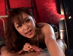 Asian hottie Mihiro gives awesome unfathomable blowjob to hunk with a hard cock