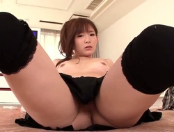 Become turned on and discover yourself jerking off very well fooling around with this Japanese girl! Her name is Akie Harada and she gonna do her best to make you happy!