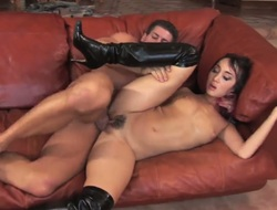 Katsuni and her hawt fuck buddy have a lot of raunchy energy to spend in interracial action