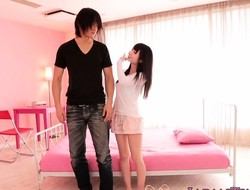 Tiny japanese cutie likes giving head