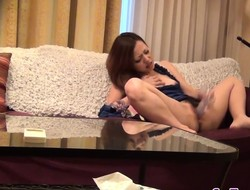 Asian bitch solo toying