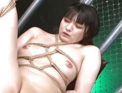 Gorgeous Oriental finger fucked and teased