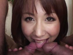 Asian cock sucker has a couple of dicks to blow on