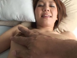 Floozy mother i'd like to fuck gets tripple teamed and creamed whilst on her knees