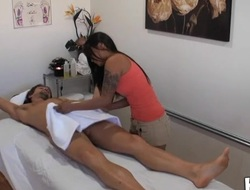 Stud really can't live out of the way massage gets mixed with fuck