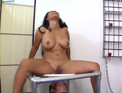 Jessica Bangkok can not live a day without taking dudes erect meat stick in her wet hole in interracial sex act