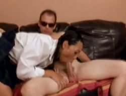 Excellent Tia Ling can't live without sucking her teachers huge ramrod in nasty oral job session