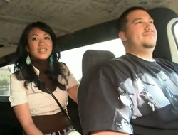 Akira Lei is a sweet Oriental brunette that is caught fucking in the back of a van. She is hungry for dick and the guy that she is with does not disappoint her.